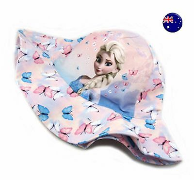 NEW H & M Kids Girls Children Pink FROZEN Elsa 100% Cotton Sun Cap Hat 2-4Years