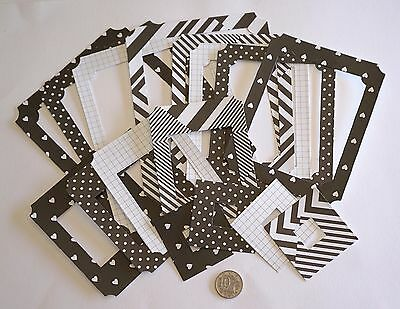 Scrapbooking No 486 - 16 Die Cut Heavy Weight Paper Heart Themed Photo Frames