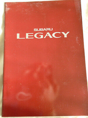 Subaru Legacy range brochure c1989 USA market? English text