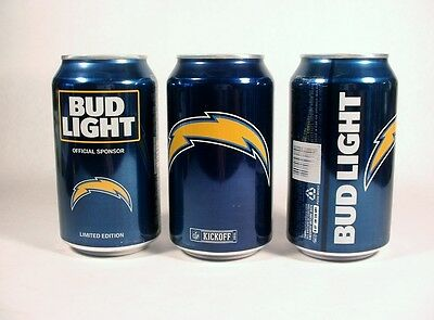 New 12 Oz San Diego Chargers Bud Light Can Kickoff 2016 Bottom Opened Free Ship