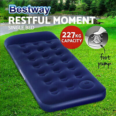 Bestway Single Air Bed Inflatable Mattresses Sleeping Mats Home Camping Outdoor