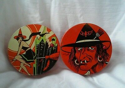 Vintage Halloween Noisemaker TC Cohen Sexy Witch Scary Witch