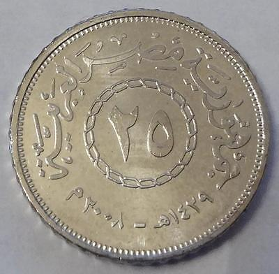 2008 Egypt, 25 Piastres, From Mint Roll, High Grade
