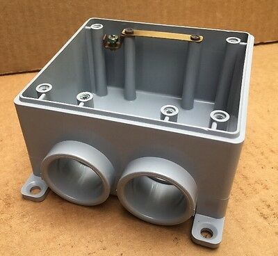 """NEW CANTEX Weatherproof 1"""" Inch Electrical Box 5133392 Type FSS 2 Gang Outdoor"""