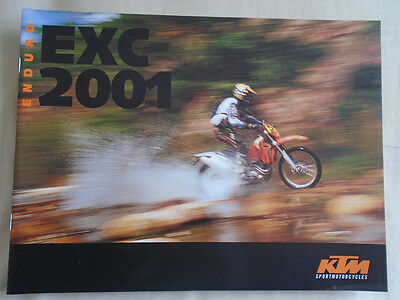 KTM EXC Enduro motorcycle brochure 2001 English text