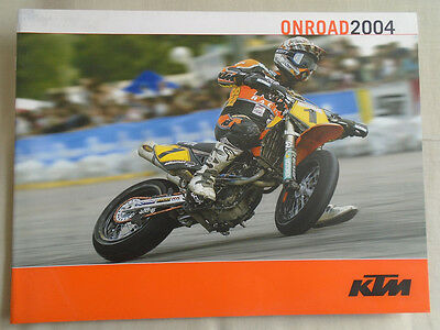 KTM On road motorcycle brochure 2004 French text