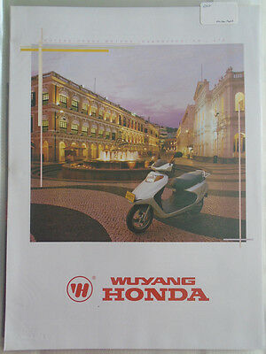 Wuyang Honda range motorcycle brochure 2000 Chinese & English text