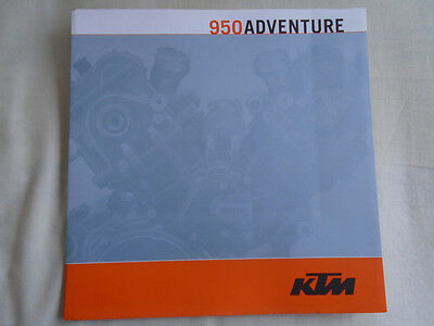 KTM 950 Adventure motorcycle brochure c2003 English text