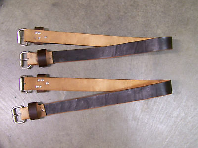 Leather Saddle Flank Strap Rear Cinch Strap 1-1/2 Inches Wide Dk Brown Qty of 2