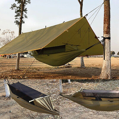 Portable Ultralight 2 Person Camping Hanging Hammock Tree House Tent Outdoor
