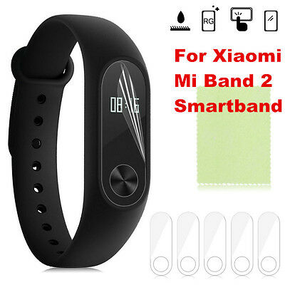 For Xiaomi Mi Band 2 Smartband 5pcs TPU Anti-Scratch Screen Protector Cover Film