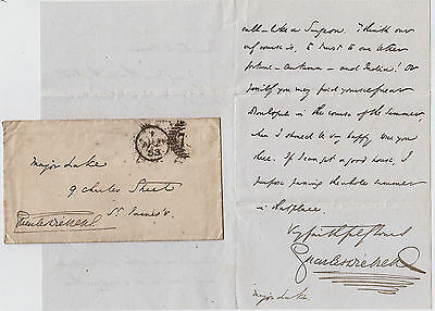 CHARLES DICKENS, Autograph Letter Signed & Signed Envelope 1853