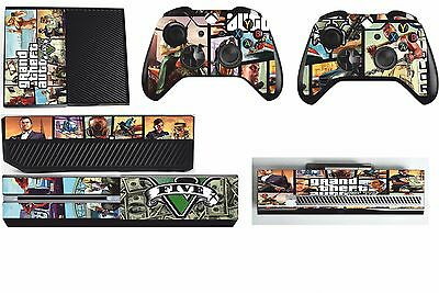 GTA 5 xbox one skins decals stickers + kinect + 2 controllers Game