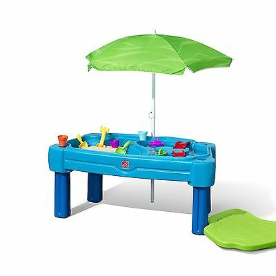Step 2 Kids Cascading Cove Sand & Water Table w/Umbrella #203863 NEW