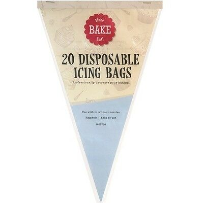 "20 x 12"" Disposable Icing Bag Baking Icing Decorating Pastry Cakes Tools Hygenic"