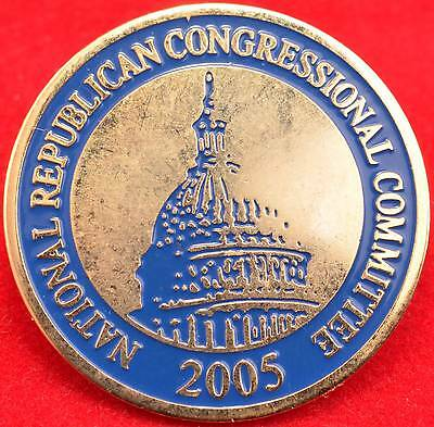 2005 National Republican Congressional Committee Hat Lapel Pin Clutch Back