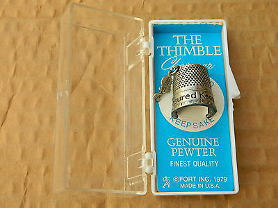 1979 Ford Pewter Thimble Usa- New Old Stock