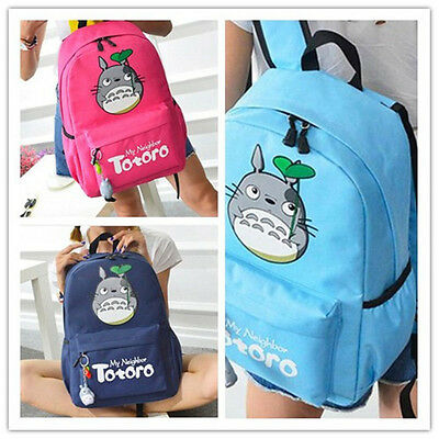 1PC Anime My Neighbor Totoro Cospaly Backpack Travel Bag School Bag 3 Colours