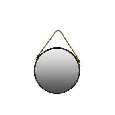 Urban Trends Collection 35090 Metal Round Wall Mirror With Rope, Gold