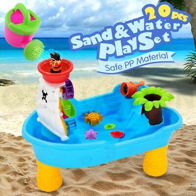 Kids Outdoor Pirate Ship Sand and Water Children Play Table Beach Sandpit Toys