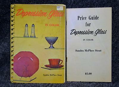 1970 Depression Glass In Color Sandra McPhee Stout w/Price Guide