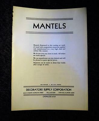 1970 Mantels Decorators Supply Corporation Catalog 131 Chicago