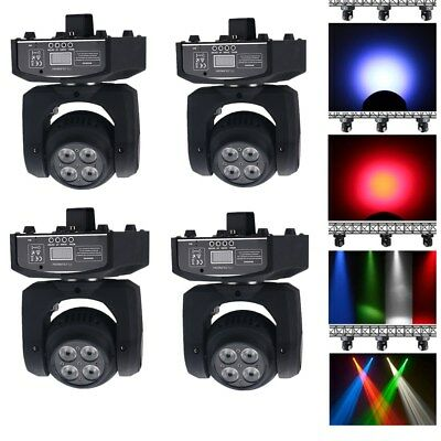 4x Led Beam/Wash Stage Double Moving Head Spot Light RGBW DMX Disco DJ Party Bar