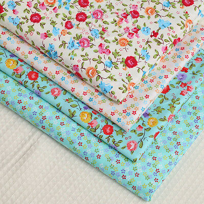 One PCS Cotton Fabric Pre-Cut Cotton cloth Fabric for Sewing Cotton Small Floral