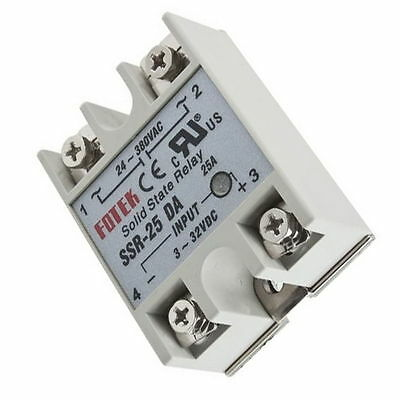 Solid State Relay Module SSR-25DA 25A /250V 3-32V DC Input 24-380VAC Output DS