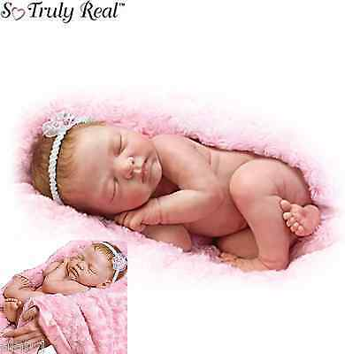 Ashton Drake Newborn Baby Bundle Of Love Lifelike Weighted Doll