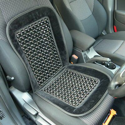 BLACK Wooden Beaded Seat Cover. Massage, Ventilation, Comfort Cushion.