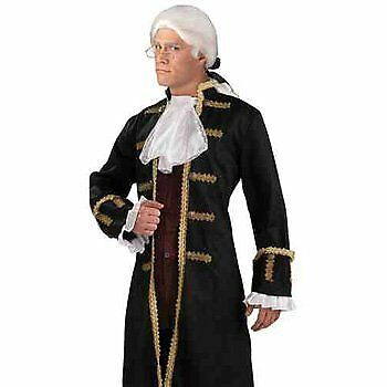 Colonial Prince Jabot & Cuff Set 1700'S Mens Lace Cut White Costume Accessory