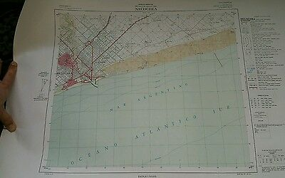 1960s Military Geographical Institute MAP COLOUR Buenos Aries SPANISH Argentina
