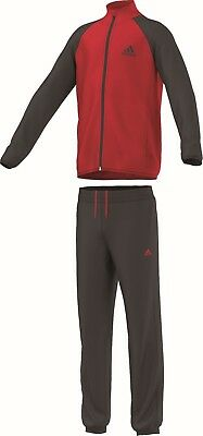 adidas Kinder Sport Trainingsanzug Training Entry Tracksuit Open Hem rot schwarz
