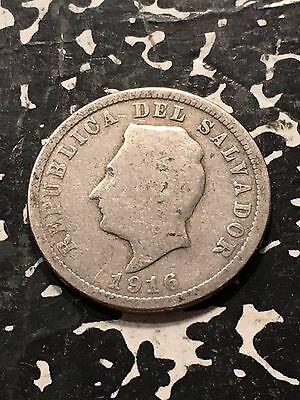 1916 El Salvador 5 Centavos Lot#4675