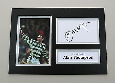 Alan Thompson Signed A4 Photo Celtic Autograph Display Memorabilia COA