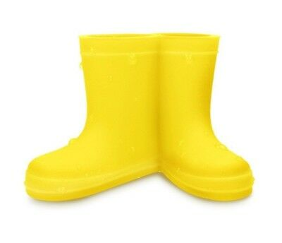 Yellow Welly Booties Boots Toothbrush Holder Silicone Bathroom Tooth Brush