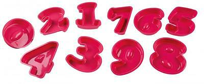 Numbers Shaped Silicone Birthday Cake Mould Kids Baking Tray Pan Sugarcraft