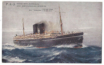 RMS MOOLTAN P&O Mail and Passenger Liner, Unused Postcard