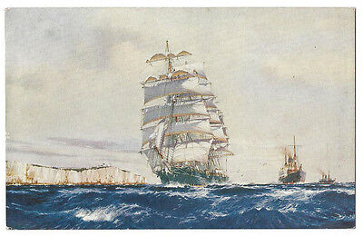 MILTIADES Clipper Ship by J Spurling, Postally Used Postcard 1938