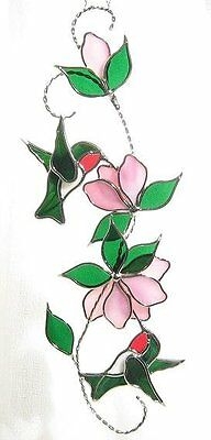 HUMMINGBIRD SCROLL Pre Cut Stained Glass Kit to Assemble PLEASE READ DESCRIPTION