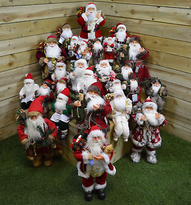 Standing or Sitting Indoor Santa Claus / Father Christmas Plush Decoration