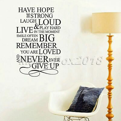 Have Hope Be Strong Wall Stickers Living Room Bedroom Office Inspirational Decal