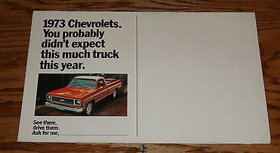 Original 1973 Chevrolet Truck Stop Foldout Sales Brochure 73 Chevy Pickup