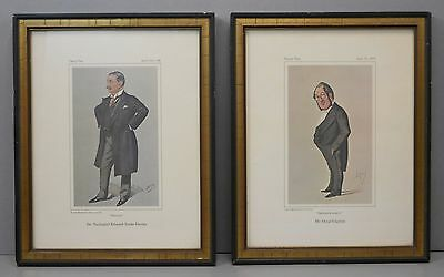 Pair of Framed Vanity Fair Medical Men of the Day Antique Reproduction Prints