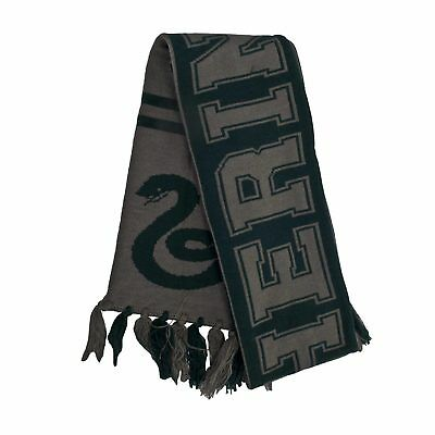 Harry Potter Slytherin Draco Malfoy Hogwarts Reversible Scarf Cosplay Costume