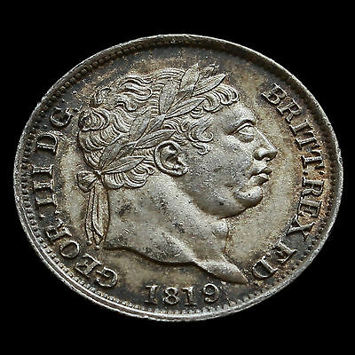 1819 George III Milled Silver Shilling