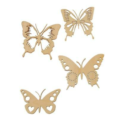 Unfinished Wood Shape Craft Supplies Laser Cut DIY Arts Home Decor Butterfly