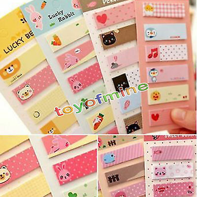 120Page Sticker Post It Bookmark Marker Memo Index Tab Lovely Paper Sticky Notes