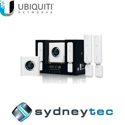 New AU Ubiquiti Amplifi HD Router WiFi Mesh System with 2 x AmpliFi HD Meshpoint